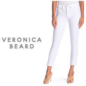 NWT Veronica Beard White Kate Crop Jeans 👖